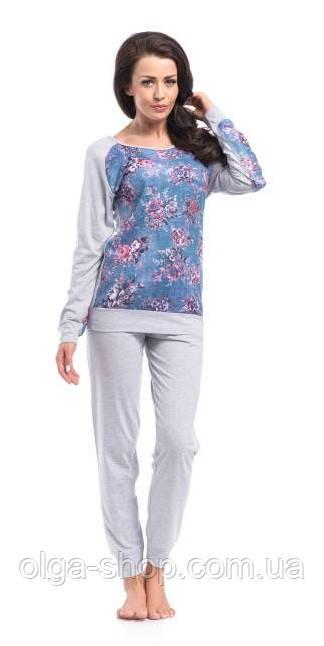 Пижама женская Dobra Nocka 8010 брючная хлопковая