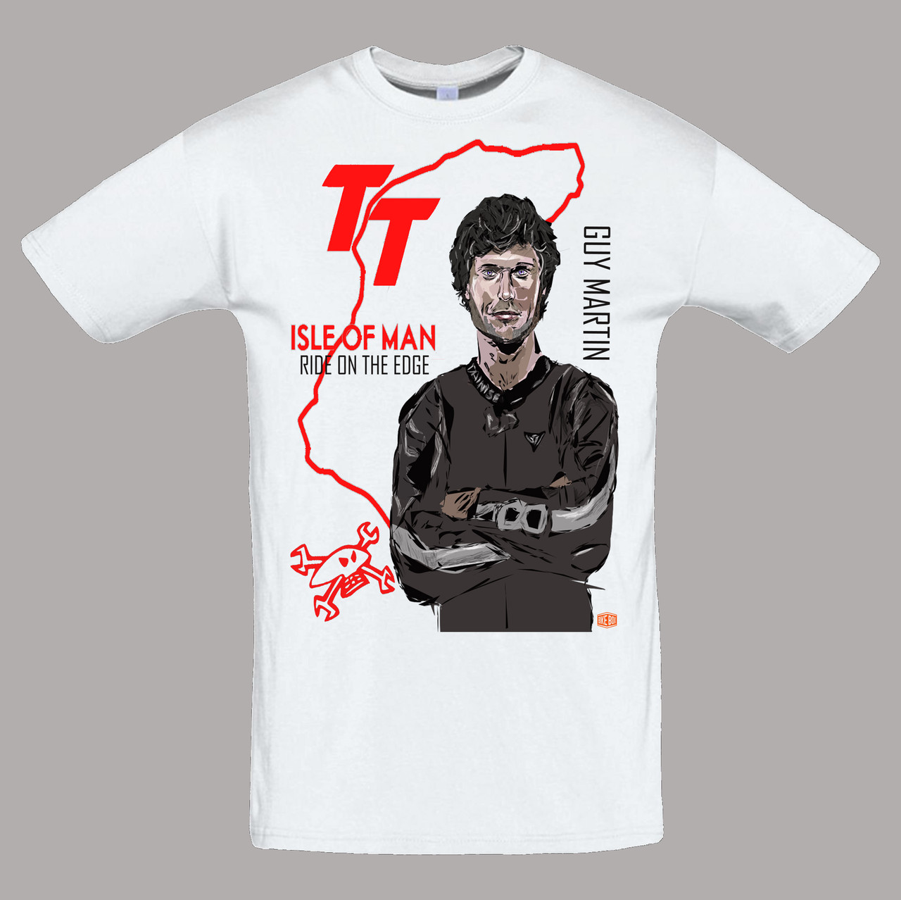 "Байкерська футболка ""Guy Martin. Ride on the edge. Isle of Man TT"""