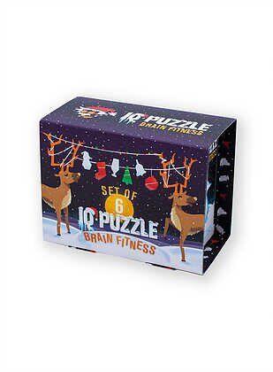 Набор головоломок, IQ puzzle Новогодний сет №1 (лимитированая серия), 6 шт