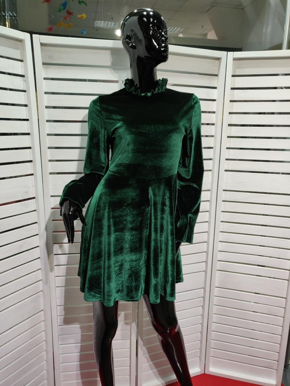 Платье велюр Lumina