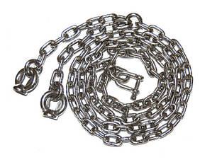 Комплект цепов из нержавейки 6 мм. для качелей, длина 180 см, фото 2