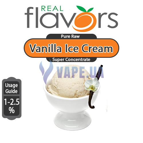 Ароматизатор Real Flavors Super Concentrate Vanilla Ice Cream (Ванильное мороженное), 5 мл.