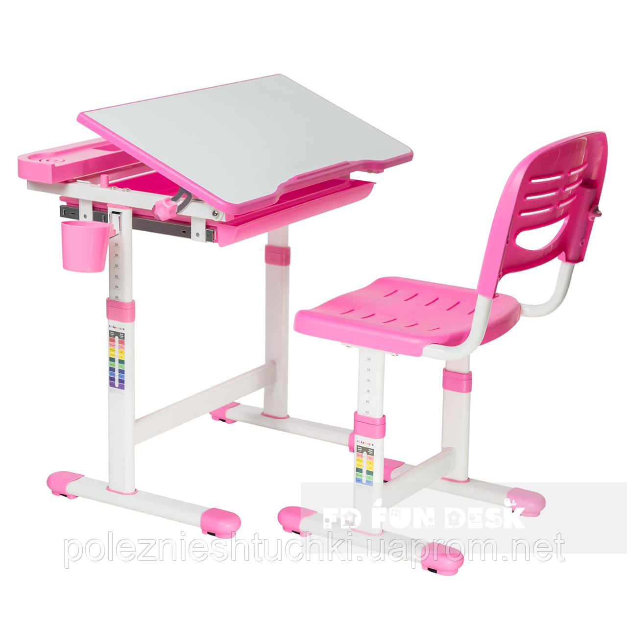 Детская парта со стульчиком FunDesk Cantare Pink