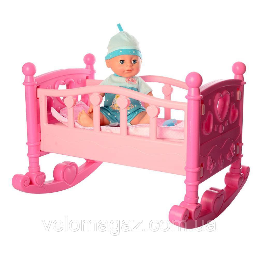 Кроватка для кукол 50 см YL2001D с пупсом 31 см