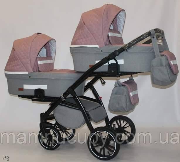 Детская коляска для двойни 2 в 1 Bexa Natigo Frido Duo NF 02