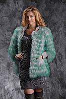Куртка из испанской ламы с манжетами и воротником из кожи теленка