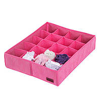 Коробочка для трусиков на 20 ячек розовый - 222096