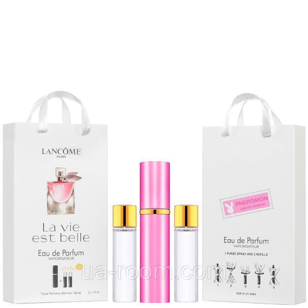 Мини-парфюм женский Lancome La Vie Est Belle, 3х15 мл