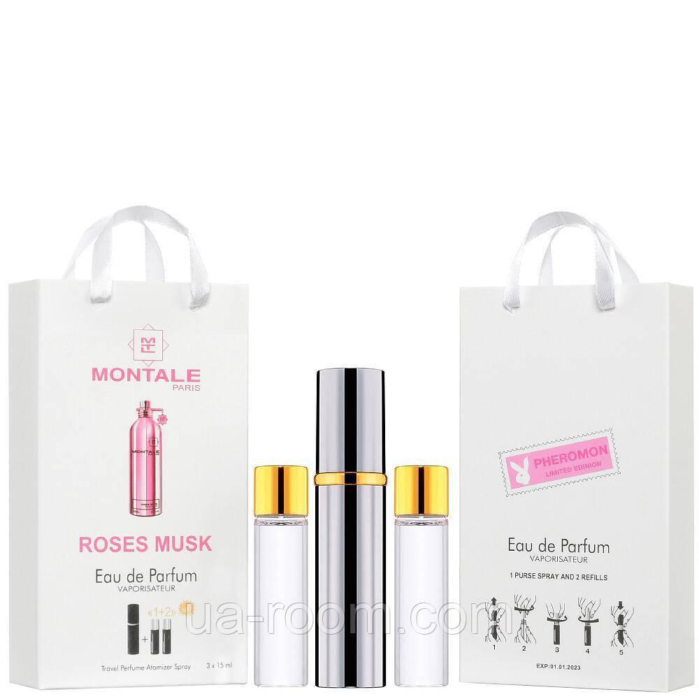 Мини-парфюм унисекс Montale Roses Musk, 3х15 мл