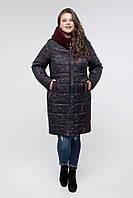Женская удлиненная куртка Зима/осень Принт размеры 48,50,52,56