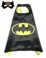 Карнавальный костюм: плащ и маска Бэтмена для мальчика 2-6 лет