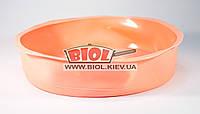 Силиконовая форма для выпечки пирога, торта 24х5см круглая светло-оранжевого цвета Empire EM-9814-1