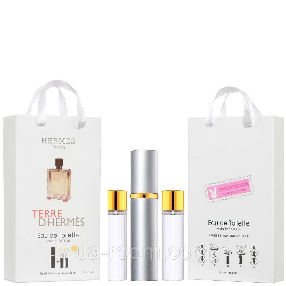 Мини-парфюм мужской Terre D`Hermes, 3х15 мл