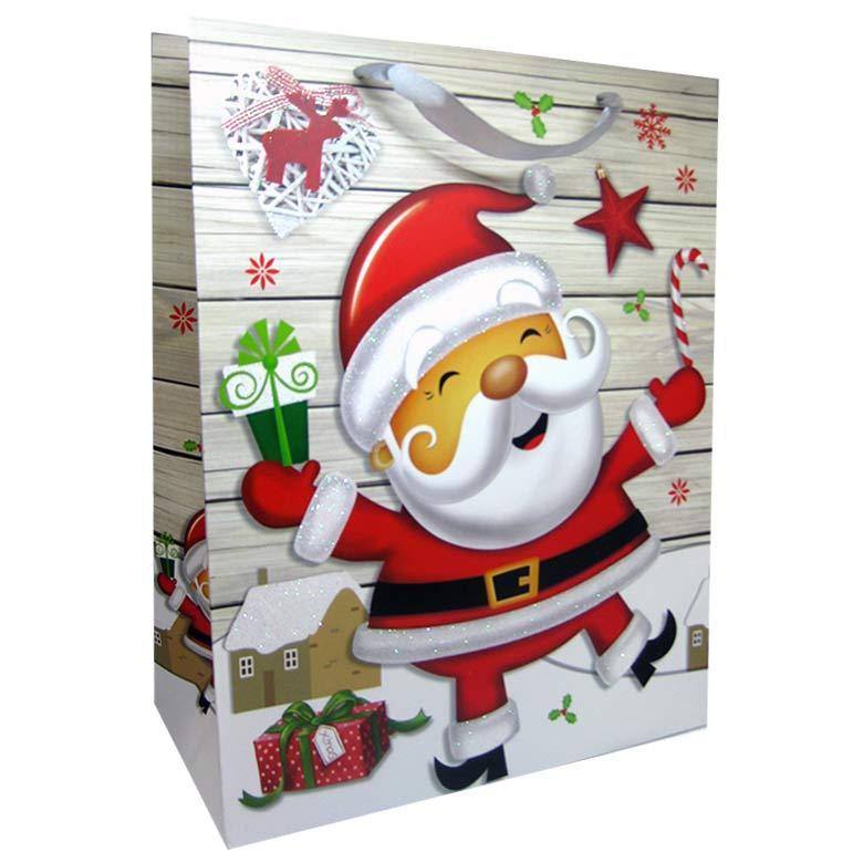 Пакет подарочный бумажный HP 26*32*12см Новогодний HP-652M-1