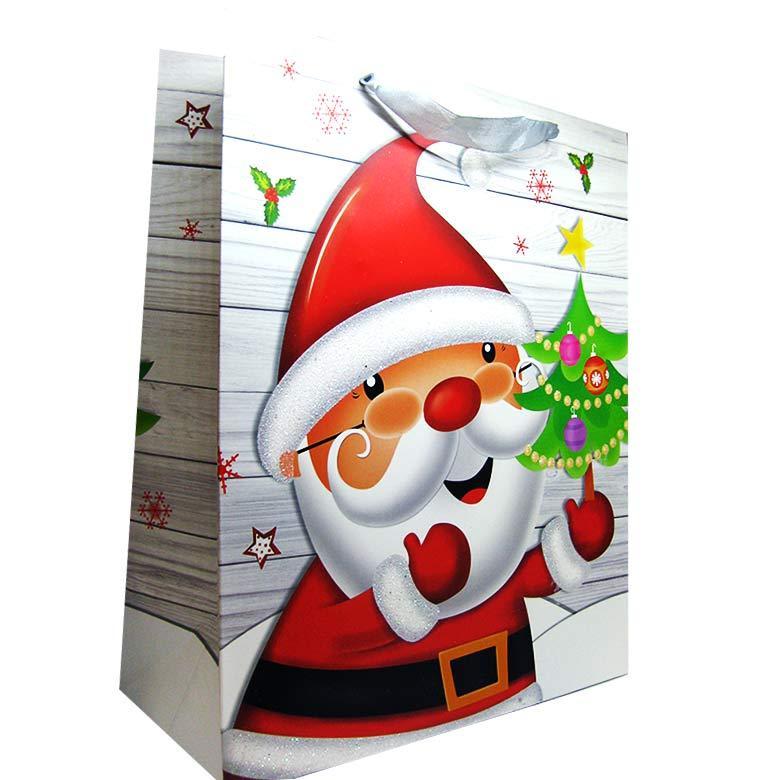Пакет подарочный бумажный HP 31*42*12см Новогодний HP-652L-2
