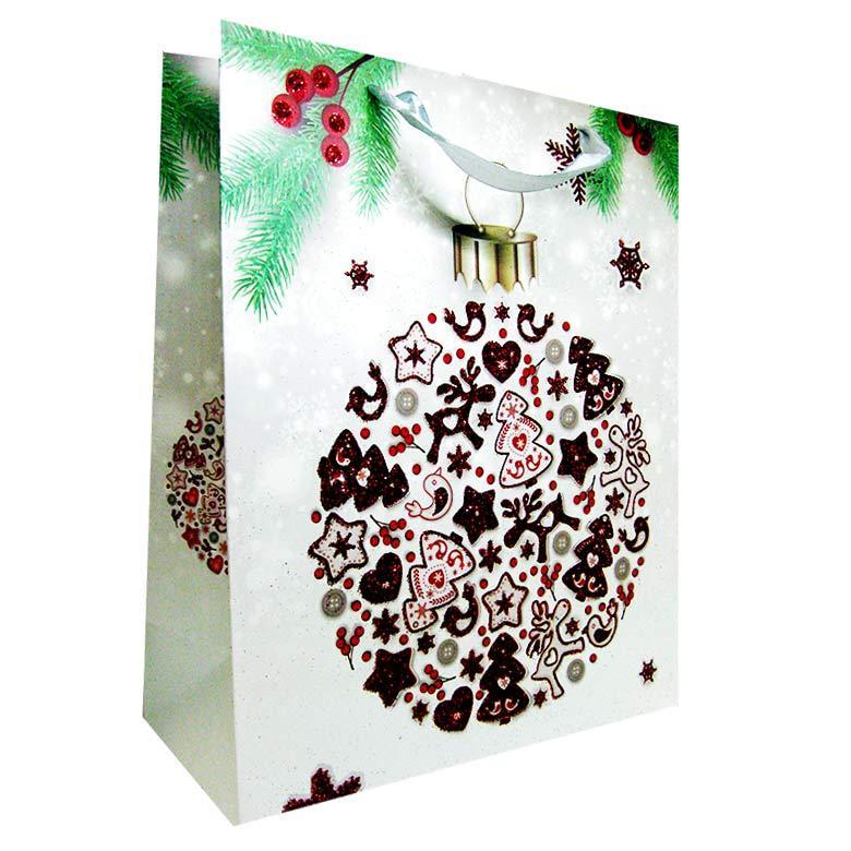 Пакет подарочный бумажный HP 31*42*12см Новогодний HP-646L-2