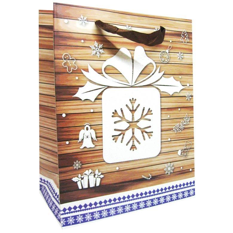Пакет подарочный бумажный HP 18*23*10см Новогодний HP-625S-4