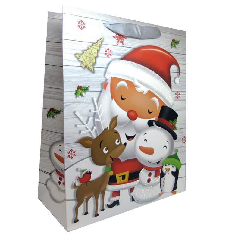 Пакет подарочный бумажный HP 18*23*10см Новогодний HP-652S-3