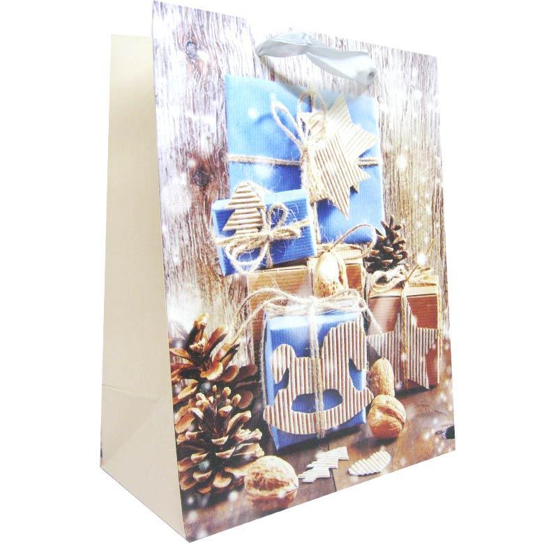 Пакет подарочный бумажный HP 31*42*12см Новогодний HP-651L-1