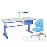 Комплект подростковая парта для школы Ballare Blue + ортопедическое кресло Bello II Blue FunDesk, фото 1