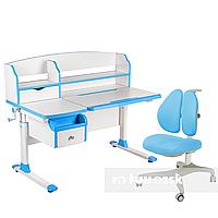 Комплект парта для подростка Sognare Blue + детское ортопедическое кресло Bello II Blue FunDesk, фото 1