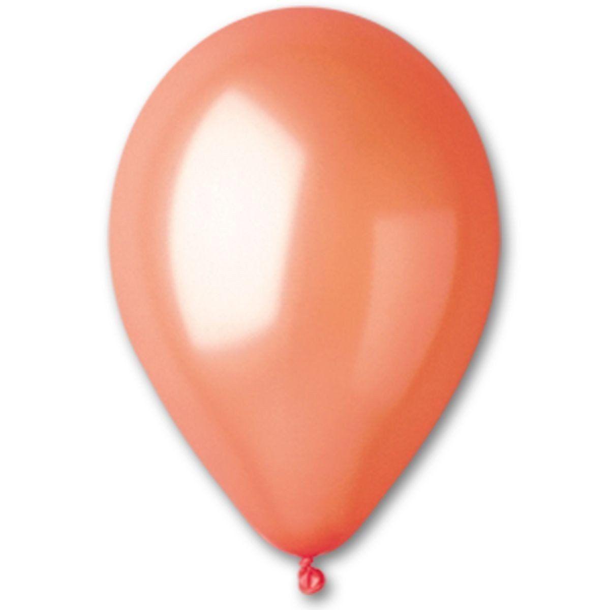 """Воздушные шары Gemar 12"""" (30 см), Металлик Оранжевый 31, 100 шт (GM110)"""
