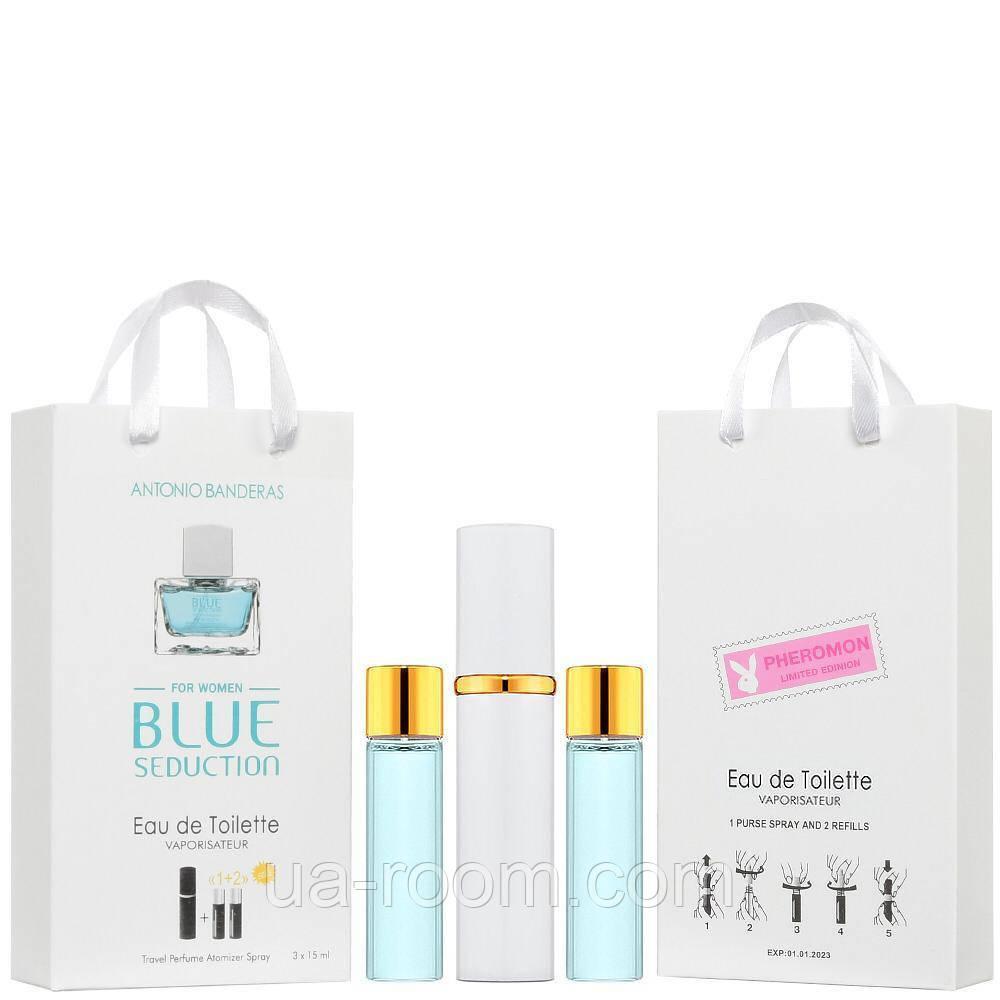 Мини-парфюм женский Antonio Banderas Blue Seduction, 3х15 мл