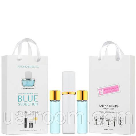 Мини-парфюм женский Antonio Banderas Blue Seduction, 3х15 мл, фото 2