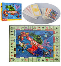 3802 Детская Настольная игра Монополия, игр. поле, фишки, карточки, в кор-ке, 39,5-26,5-5,5см