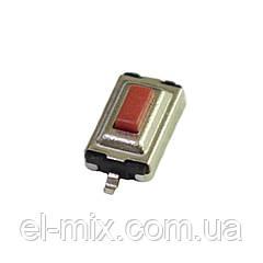 Кнопка тактовая smd  6x3.5 2pin h2.5 (шток 0.8)  Китай / уп.100шт