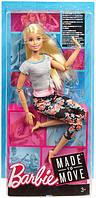 Barbie Made To Move Лялька Бірбі Йога ( Кукла Барби Безграничные движения. Барби Йога гимнастка Блондинка )