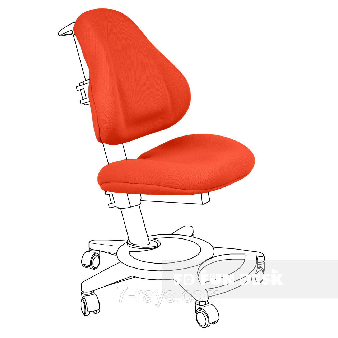 Чехол для кресла Bravo orange