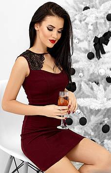 Короткое вечернее платье Флоренс с декольте (42-48 в расцветках)
