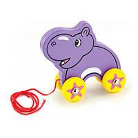 Игрушка-каталка Бегемот Viga Toys  6,8х13,5х13,9 см Фиолетовый