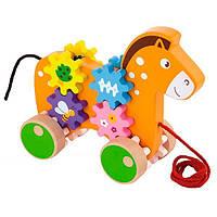Игрушка-каталка Лошадка Viga Toys  9х24х23 см Разноцветный