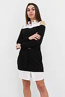 S, M, L | Комбіноване жіноче плаття Lilit, чорний