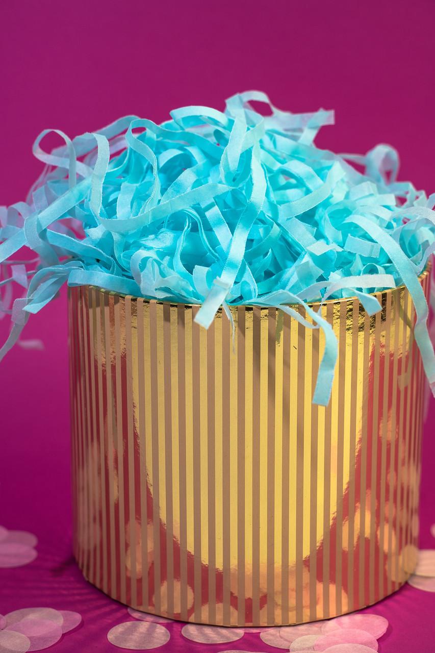 Наполнитель для коробок  из тишью нежно-голубой 100 г