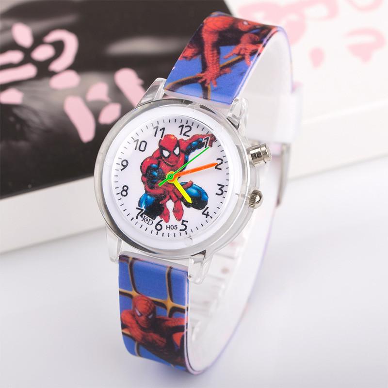 Часы с подсветкой Spider-man синие