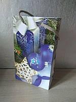 Пакет подарочный бумажный 11х18х5см