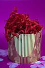 Наполнитель для коробок  из тишью бордовый 100 г, фото 2
