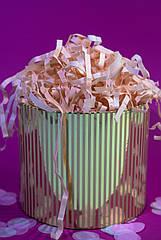 Наполнитель для коробок  из тишью персиковый 100 г