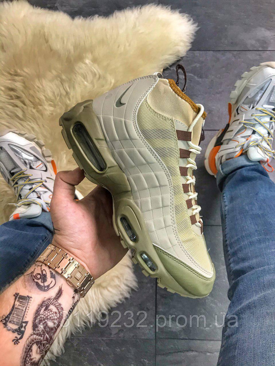 Чоловічі кросівки (еврозима) Nike Air Max 95 Sneakerboot Green (зелений)