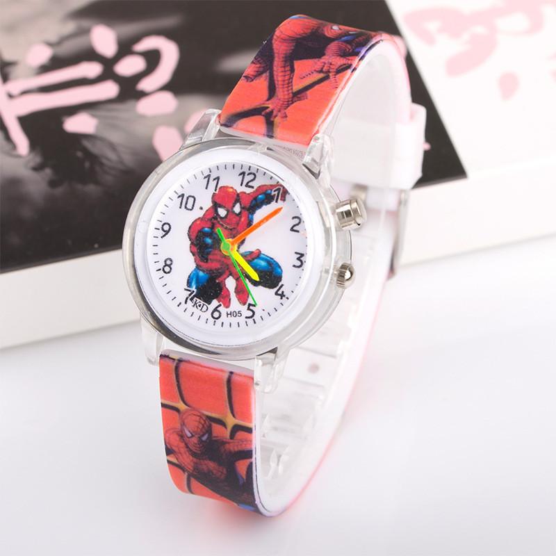 Часы с подсветкой Spider-man красные