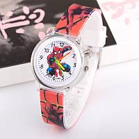 Часы с подсветкой Spider-man красные, фото 1