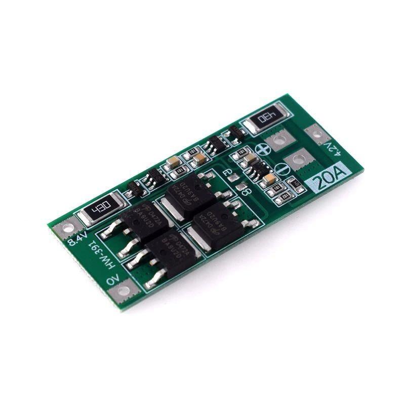Контролер заряду - розряду 2-х Li-Ion акумуляторів, 20А, 18650, BMS 2S