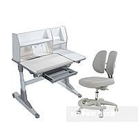 Комплект для школьников Fundesk парта Magico Grey+подростковое кресло Primo Grey, фото 1