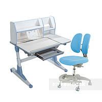 Комплект для школьников Fundesk парта Magico Blue+подростковое кресло Primo Blue, фото 1