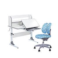 Растущий комплект для школьников парта Cubby Nerine Grey + детское кресло  SST9 Blue FunDesk, фото 1