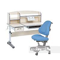 Комплект для школьников растущая парта Cubby Ammi Grey+ортопедическое кресло FunDesk Bravo Blue, фото 1