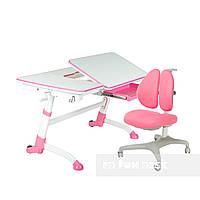 Комплект парта-трансформер  Amare Pink + кресло FunDesk Bello II Pink, фото 1